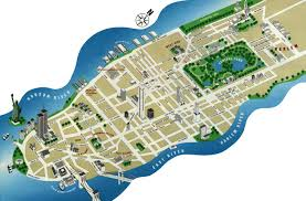 Manhattan Zip Codes Map by Detailed Tourist Panoramic Map Of Manhattan Manhattan Detailed
