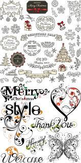 ornamental christmas decoration elements vector vector graphics blog