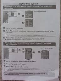 panasonic home theater receiver panasonic home theatre audio system sc htb527 in callington