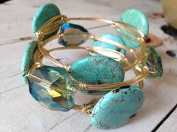 diy bracelet stones images How to make wire bangles with wraps art soul learn to make jpg