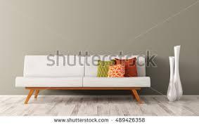 modern interior living room white sofa stock illustration