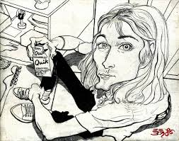 kurt cobain with strawberry quik by ebenlo painter of song