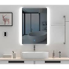 Mirror Vanity Bathroom Horizontal Led Lighted Vanity Bathroom Silvered Mirror