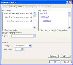 table of contents generator insert a table of contents in word