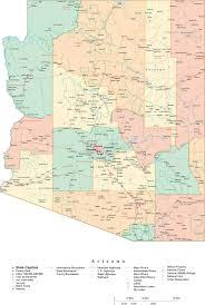 Az City Map State Map Of Arizona In Adobe Illustrator Vector Format U2013 Map
