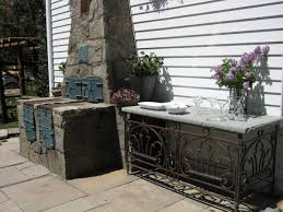 Patio Serving Table Incomparable This House Outdoor Kitchen With Outdoor Wood
