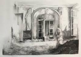 saatchi art brave drawing magdalena lamri