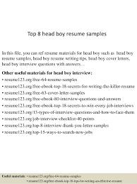 Effective Resume Samples by Top 8 Head Boy Resume Samples 1 638 Jpg Cb U003d1437638402