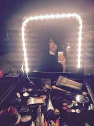 mirror with light bulbs compelling lights then vanity makeup desk along with mirror then