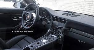 porsche 911 facelift facelifted 2016 porsche 911 s interior spied undisguised