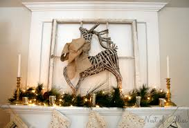 Christmas Deer Mantel Decorations by Christmas Farmhouse Tour Nest Of Bliss