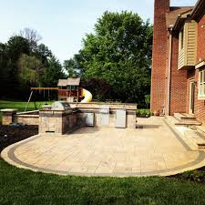Outdoor Kitchen Design Ideas Decor Best Outdoor Patio Ideas With Winsome Unilock Fireplace