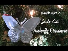 diy soda can butterfly ornament