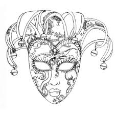 mask coloring pages coloring pages adults justcolor