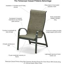 Stackable Mesh Patio Chairs by Primera Supreme Aluminum Stacking Patio Dining Arm Chair By