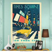 Travel Decor Times Square New York City Wall Decal Us Travel Decor
