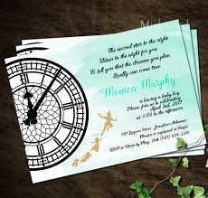 baby shower invitations at party city peter pan baby shower invitation neverland baby shower