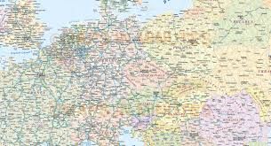 Map Of Europe Political by Central Europe Political Country Vector Map With Roads Fully