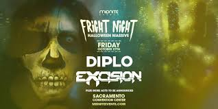 halloween party in sacramento fright night diplo excision at sacramento convention center in