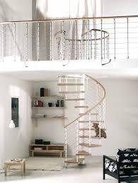 arke kloe spiral stair kit white metal work u0026 light beech treads