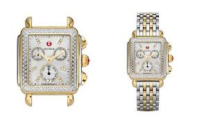deco 16 two tone 18 michele watches bloomingdale s
