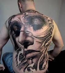 amazing full back portrait tattoo tattoo com