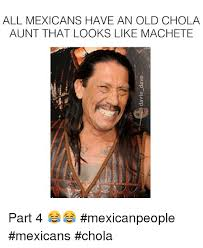 Chola Meme - all mexicans have an old chola aunt that looks like machete part 4