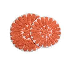 Coral Bathroom Rug Chesapeake Merchandising Bursting Flower 24 In X 24 In And 30 In