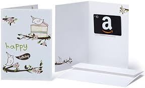 10 gift card in a greeting card birthday