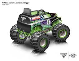grave digger toy monster truck kid trax monster jam gravedigger 12 volt ride on on behance