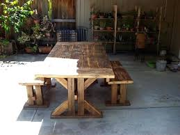 Wooden Patio Dining Set Outdoor Wood Table Ladyroom Club