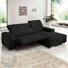 sofa relaxfunktion elektrisch ecksofa francisco sofa wohnlandschaft schwarz elektrische