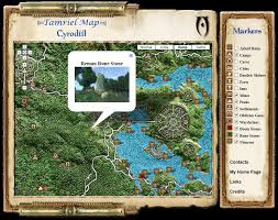 Map Of Skyrim Elder Scrolls Tamriel Maps With Skyrim And Dragonborn