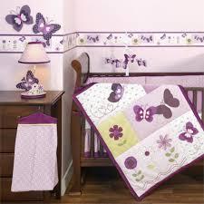 Lavender Butterfly Crib Bedding Gorgeous Purple Crib Bedding Pattern All Modern Home Designs