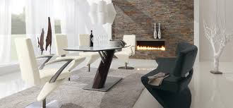 modern dining room sets edgy dining room set modern interior design ideas