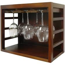 vinotemp stackable wood wine glass rack brown ep stack12g