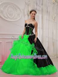 and black quinceanera dresses and green diamonds and ruffles quinceanera gown in longview