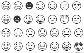 print emoji list coloring pages coloring