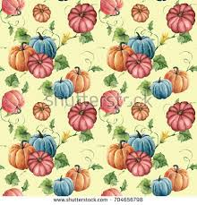 hand painted pumpkin halloween clipart watercolor pumpkin seamless pattern hand painted stock