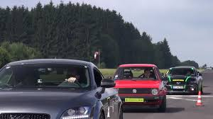 Audi R8 Turbo - watch a 600 hp vw golf 2 vr6 turbo obliterate an audi r8 v10 and a