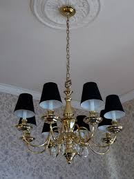Bronze Chandelier With Shades Black Parchment Chandelier Lamp Shades With Gold Paper Liner