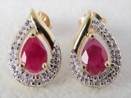 diamond earrings nz 9ct yellow gold ruby diamond earrings gemstone rings gold