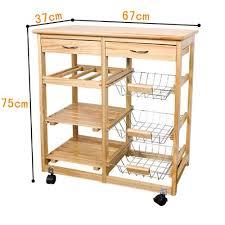 desserte cuisine en bois sobuy fkw04 n meuble rangement cuisine roulant en bois desserte à