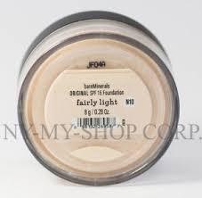 bareminerals spf 15 foundation fairly light bare minerals escentuals spf 15 foundation fairly light n10 8g