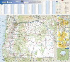 map of oregon freeways oregon state wall map by globe turner