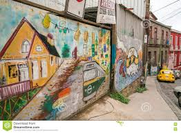 colourful street art decorating houses in valparaiso chile