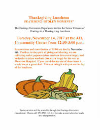 senior thanksgiving luncheon tuesday november 14th of