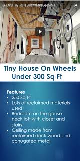 tiny house on wheels under 300 sq ft tiny quality homes