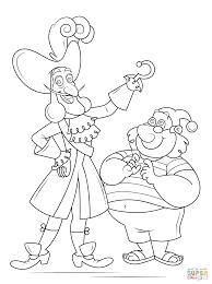 captain hook and mr smee coloring page free printable coloring pages