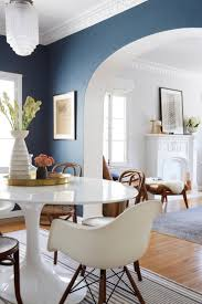 Navy Accent Wall by Fresh Accent Walls In Living Room With Splash Color Design And